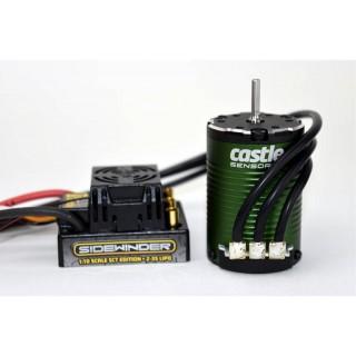 Castle motor 1410 3800ot/V senzored, reg. Sidewinder SCT