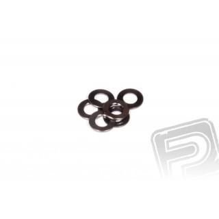 0.5x6mm podložky - šedé (6 ks.)
