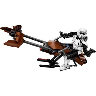 LEGO Star Wars - Průzkumný voják a speederová motorka