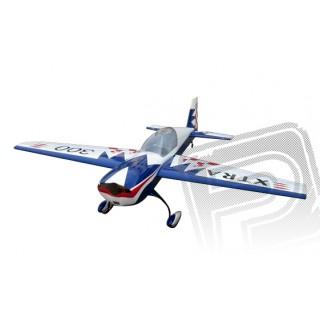 EXTRA 300 Mid-wing 50cc A Scale 30% 2235mm (bílo/modrá)