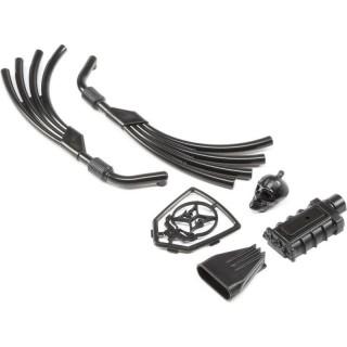ECX 1.9 Barrage D: Motor, výfuk, chladič černá