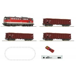 Dieselová lokomotiva Rh2043 + nákladní vagony Eaos rubu, ÖBB