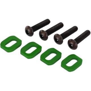 X-Maxx: Podložky pod šrouby motoru hliníkové zelené (4)