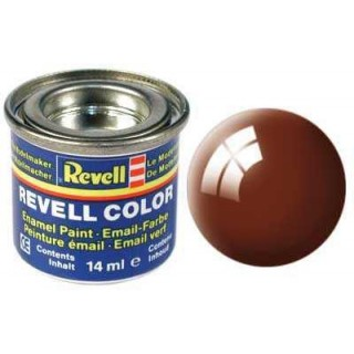 Barva Revell emailová - 32180: leská blátivě hnědá (mud brown gloss)
