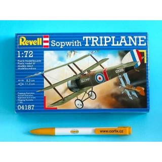 Plastic ModelKit letadlo 04187 - Sopwith Triplane  (1:72)