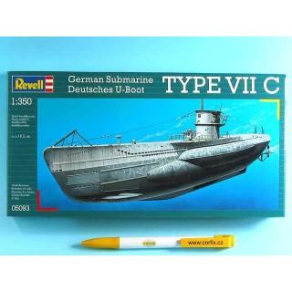 Plastic ModelKit ponorka 05093 - U-Boot Typ VIIC  (1:350)