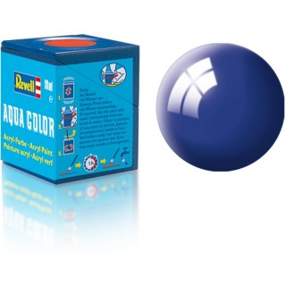 Barva Revell akrylová - 36151: leská ultramarínová modrá (ultramarine-blue gloss)