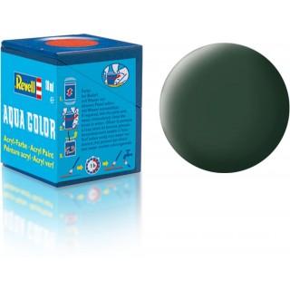 Barva Revell akrylová - 36168: matná tmavě zelená (dark green mat RAF)