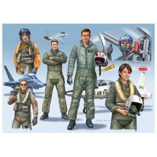 Plastové figurky 02402 -  NATO PILOTS (D/GB/USA) modern  (1:72)