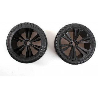 REVELL - REVELLUTIONS (47030) - Set 2x Rear Wheel for Buggy, black