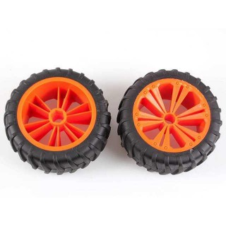 REVELL - REVELLUTIONS (47032) - Set 2x Wheel for Monster, orange