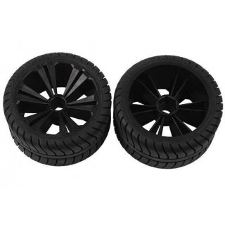 REVELL - REVELLUTIONS (47205) - Set 2x Rear Wheel for Buggy, black