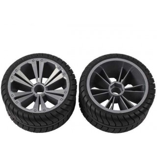 REVELL - REVELLUTIONS (47217) - Set 2x Rear Wheel for Muscle Car, silver