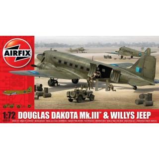 Classic Kit letadlo A09008 - Douglas Dakota MkIII with Willys Jeep (1:72)
