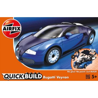 Quick Build auto J6008 - Bugatti Veyron - modrá