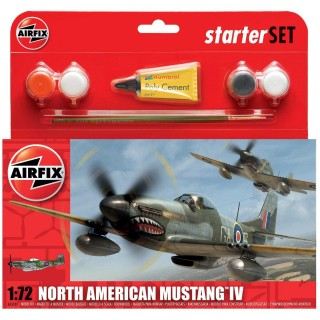 Starter Set letadlo A55107 - North American P-51D Mustang (1:72)