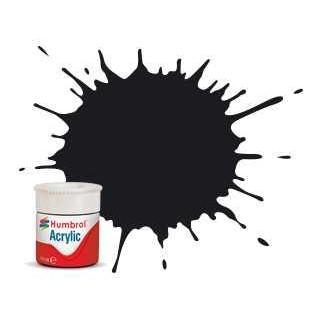 Humbrol barva akryl AB0021 - No 21 Black - Gloss - 12ml