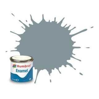 Humbrol barva email AA0967 - No 87 Steel Grey - Matt - 14ml