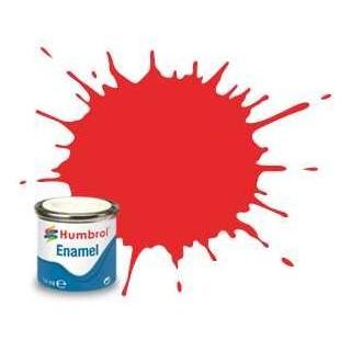 Humbrol barva email AA7105 - No 209 Fluorescent Fire Orange - Gloss - 14ml