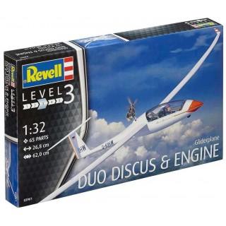Plastic ModelKit letadlo 03961 - Gliderplane Duo Discus & Engine (1:32)