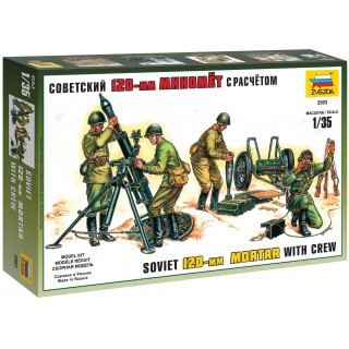 Model Kit figurky 3503 - Soviet 120mm Mortar with crew (re-release) (1:35)
