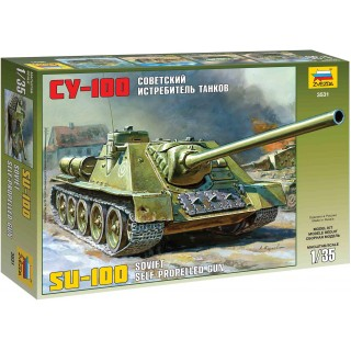 Model Kit military 3531 - Soviet Self-propelled Gun Su-100 (1:35)