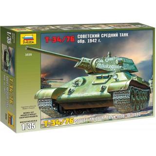 Model Kit tank 3535 - T-34/76 Soviet tank mod. 1942 (1:35)