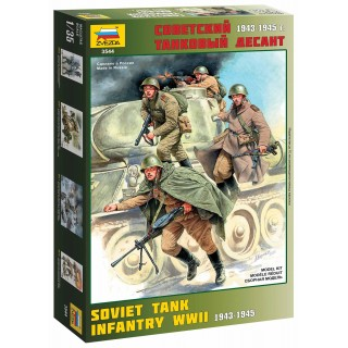 Model Kit figurky 3544 - Soviet Tank Infantry WWII (1:35)