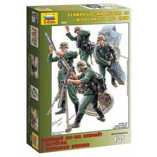 Model Kit figurky 3583 - German Mortar with Crew (1:35)
