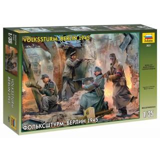 Model Kit figurky 3621 - German Volkssturm, Berlin 1945 (1:35)