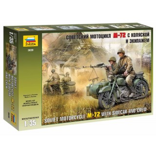Model Kit figurky 3639 - Soviet WWII Motorcycle M-72 (1:35)