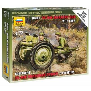 Wargames (WWII) military 6145 - Soviet 76-mm Gun (1:72)