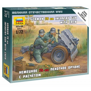 Wargames (WWII) figurky 6156 - German 75mm Infantry Gun (1:72)