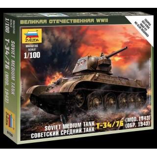 Wargames (WWII) tank 6159 - Soviet Medium Tank T-34-76 mod.1943 (1:100)