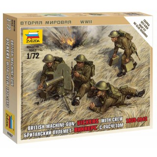 Wargames (WWII) figurky 6167 - British Machine Gun with crew 1939-42 (1:72)