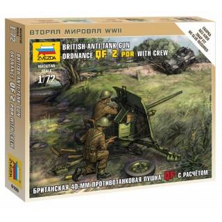 Wargames (WWII) military 6169 - British QF 2-pdr Anti Tank Gun w/crew (1:72)