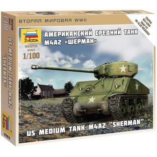 Wargames (WWII) tank 6263 - Sherman M-4 (1:100)