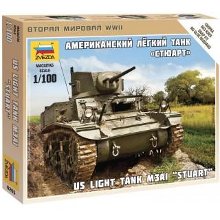 Wargames (WWII) tank 6265 - Stuart US-Tank (1:100)
