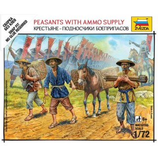 Wargames (SB) figurky 6415 - Peasants with Ammo Supply (1:72)