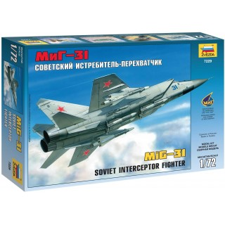 Model Kit letadlo 7229 - MIG-31 Soviet Interceptor (1:72)