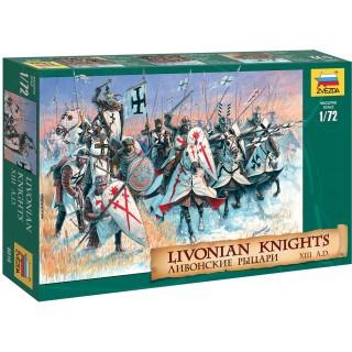 Wargames (AoB) figurky 8016 - Livonian Knights XIII-XIV A. D. (1:72)