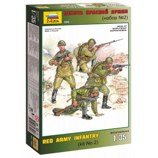Model Kit figurky 3502 - Red Army Infantry 2 (1:35)