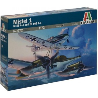Model Kit letadlo 0072 - MISTEL 1 JU 88 A-4 with BF 109F (1:72)