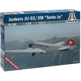 "Model Kit letadlo 0150 - JUNKERS JU-52 3/m ""TANTE JU"" (1:72)"