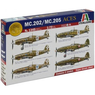 Model Kit letadlo 1345 - ITALIAN ACES MC.202/ MC.205 (1:72)