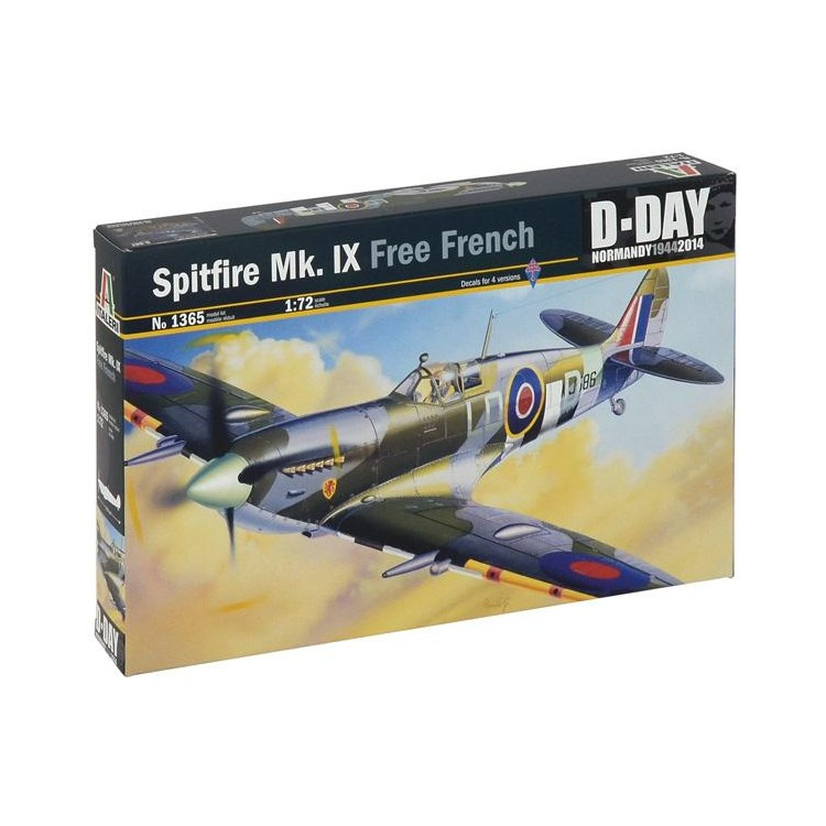Model Kit letadlo 1365 - SPITFIRE Mk.IX Free French (1:72)