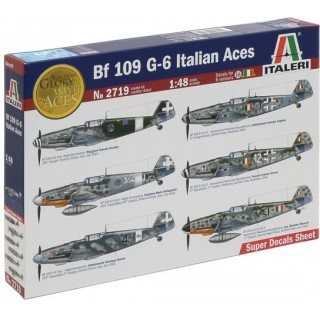 Model Kit letadlo 2719 - BF 109 G-6 ITALIAN ACES (1:48)