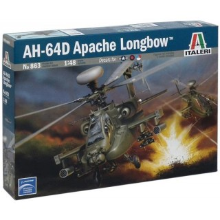 Model Kit vrtulník 0863 - AH-64 D APACHE LONGBOW (1:48)