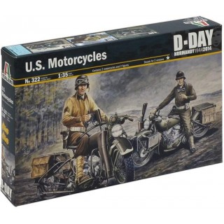 Model Kit military 0322 - U.S. MOTORCYCLES WW2 (1:35)
