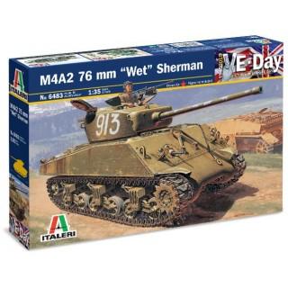 """Model Kit tank 6483 - M4A2 76mm """"WET"""" SHERMAN (1:35)"""